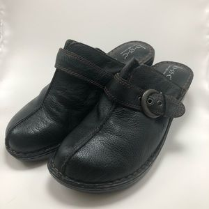Born BOC black clogs size 10